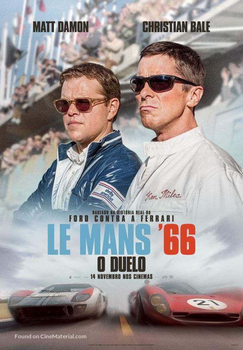 Ford v. Ferrari - Portuguese Movie Poster