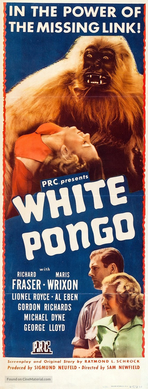 White Pongo - Movie Poster