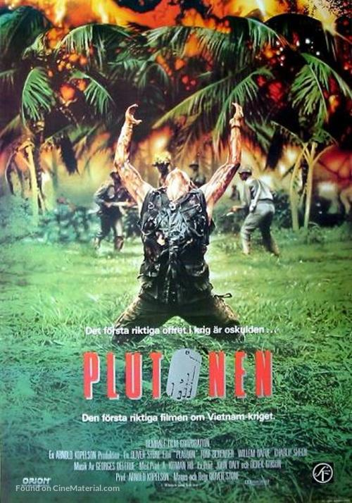 Platoon - Swedish Movie Poster