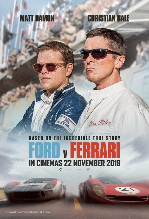Ford v. Ferrari - South African Movie Poster