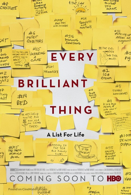Every Brilliant Thing - Movie Poster