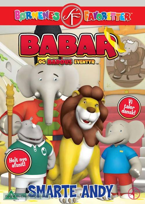 """""""Babar and the Adventures of Badou"""" - Danish DVD movie cover"""