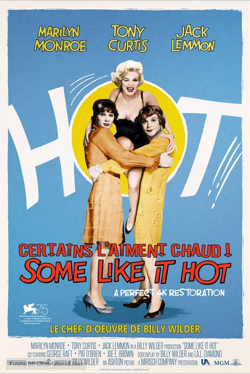 Some Like It Hot - French Re-release poster