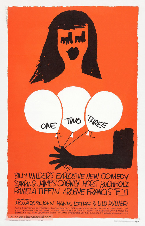 One, Two, Three - Theatrical movie poster