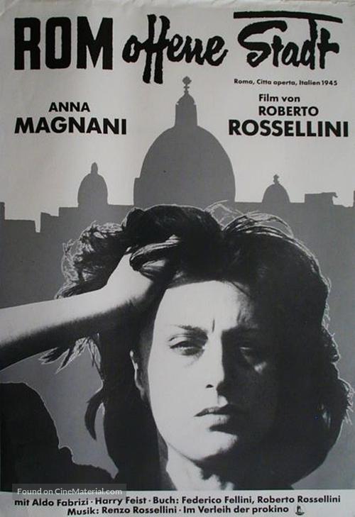 Roma, città aperta - German Movie Poster