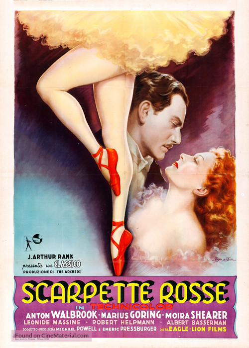 The Red Shoes - Italian Movie Poster