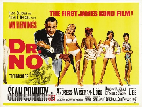 Dr. No - British Theatrical movie poster