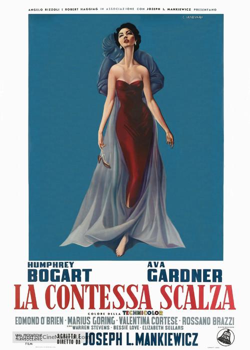 The Barefoot Contessa - Italian Movie Poster
