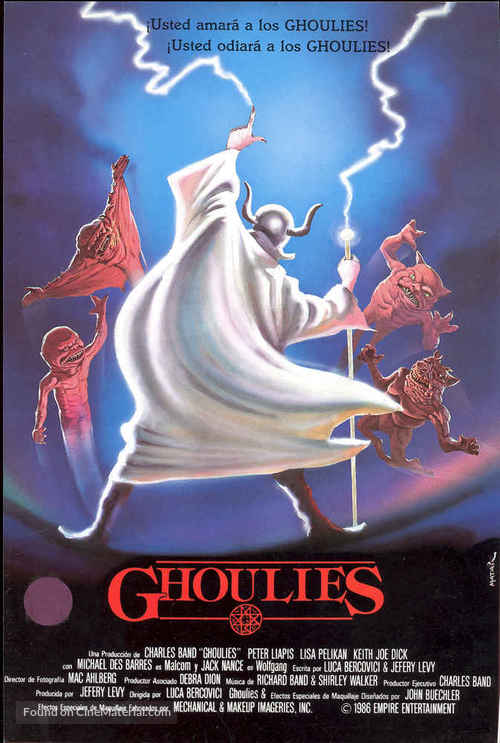 Ghoulies - Spanish Movie Poster
