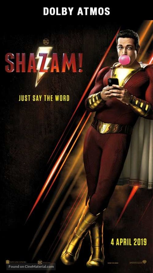 Shazam! - Singaporean Movie Poster