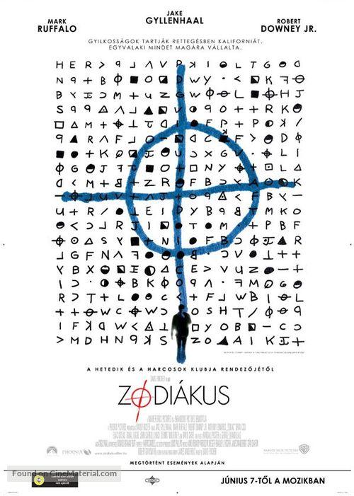 Zodiac - Hungarian Movie Poster