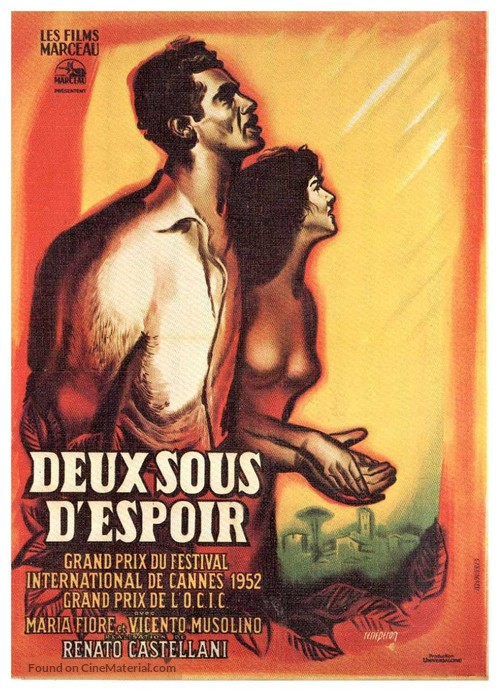 Due soldi di speranza - French Movie Poster
