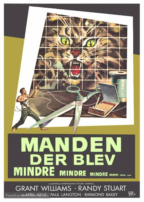The Incredible Shrinking Man - Danish Movie Poster