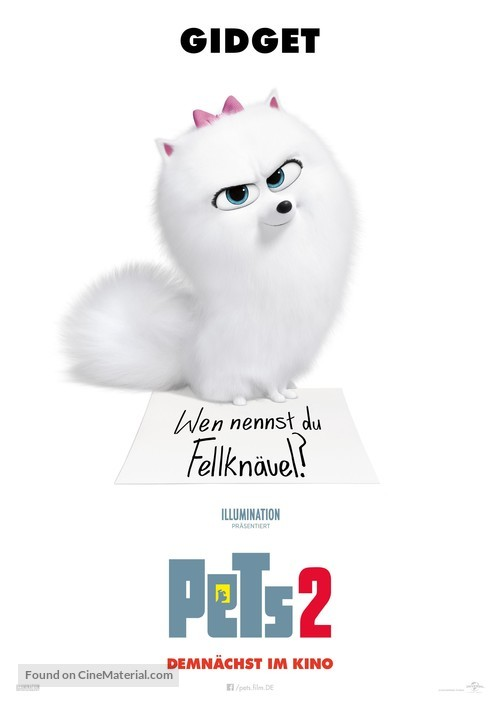 The Secret Life of Pets 2 - German Movie Poster