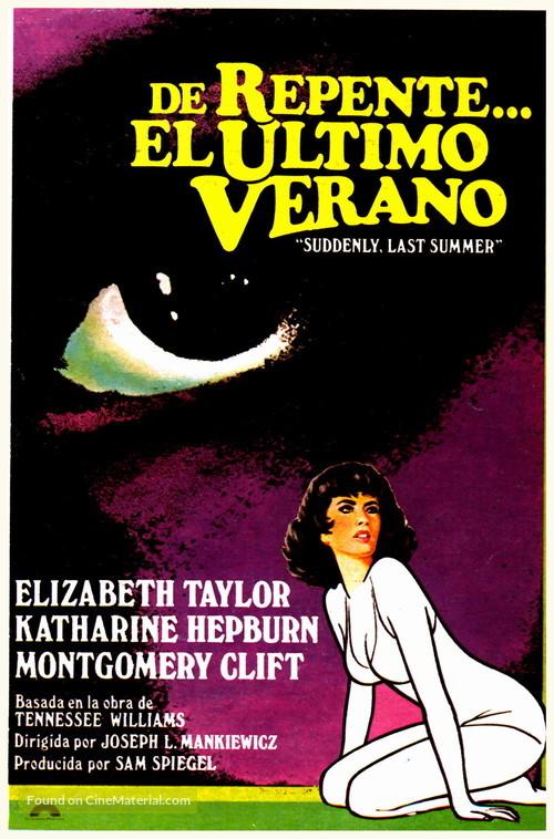 Suddenly, Last Summer - Spanish Movie Poster
