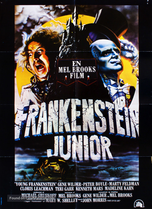 Young Frankenstein - Danish Movie Poster