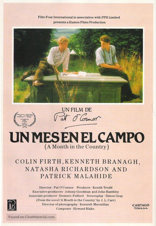 A Month in the Country - Spanish Movie Poster