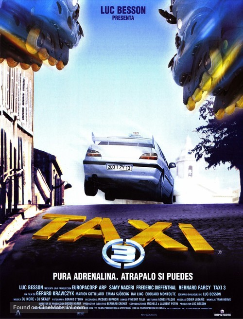 Taxi 3 (2003) 720p BluRay x264 ESubs Dual Audio [Hindi DD2.0 + French DD2.0]