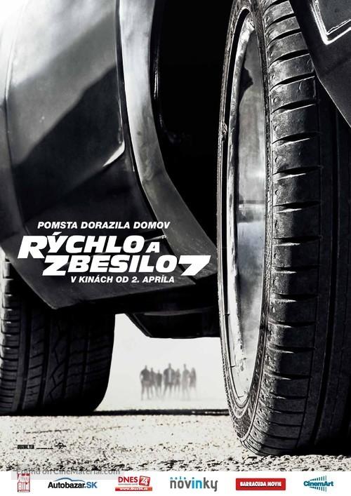 Furious 7 - Slovak Movie Poster