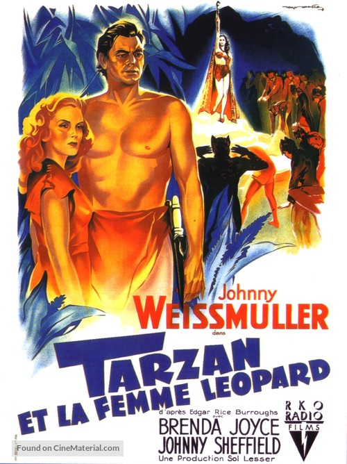 Tarzan and the Leopard Woman - French Movie Poster