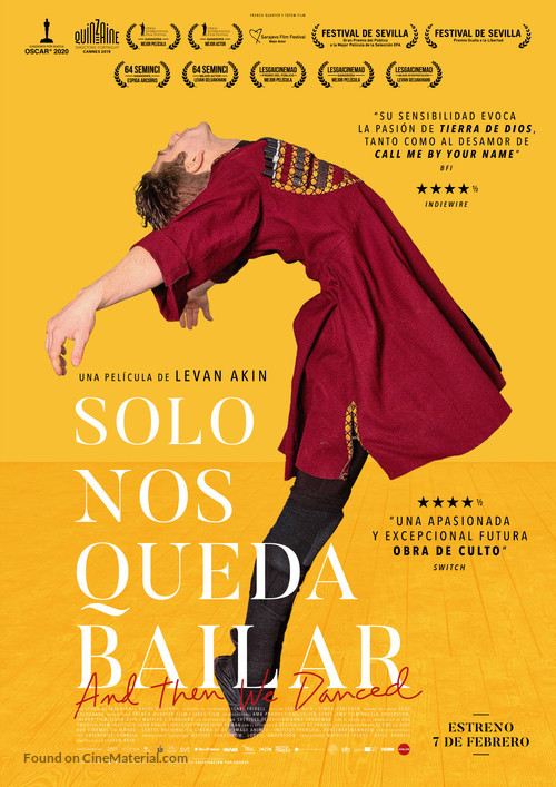And Then We Danced - Spanish Movie Poster