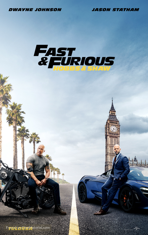 Fast & Furious Presents: Hobbs & Shaw - Finnish Movie Poster