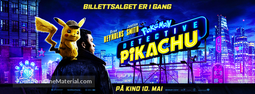 Pokémon: Detective Pikachu - Norwegian Movie Poster