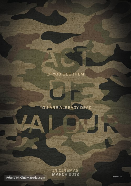 Act of Valor - British Movie Poster