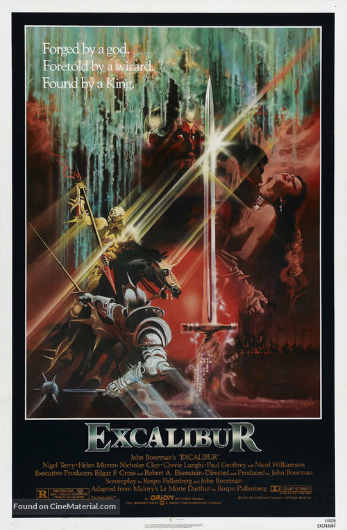 Excalibur - Movie Poster
