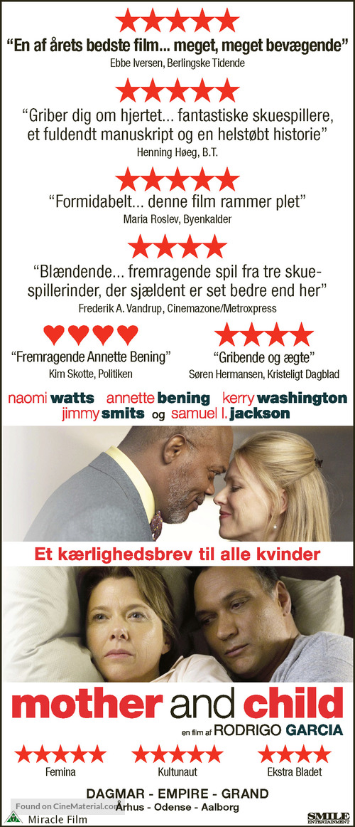 Mother and Child - Danish Movie Poster