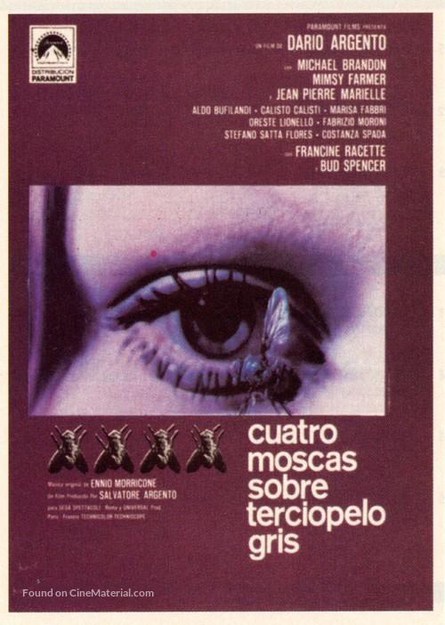 4 mosche di velluto grigio - Spanish Movie Poster