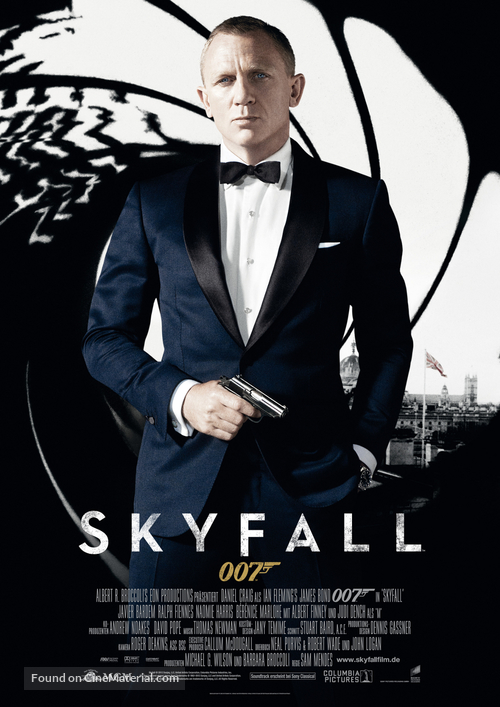 Skyfall - German Movie Poster