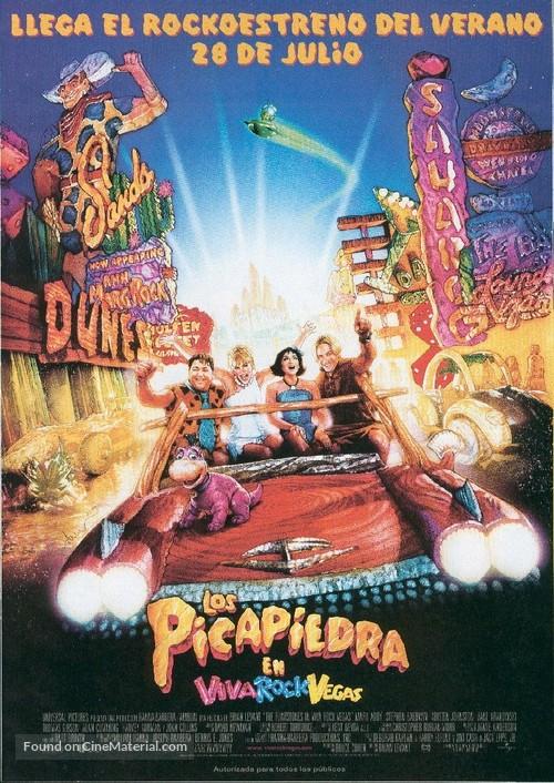 The Flintstones in Viva Rock Vegas - Spanish Movie Poster