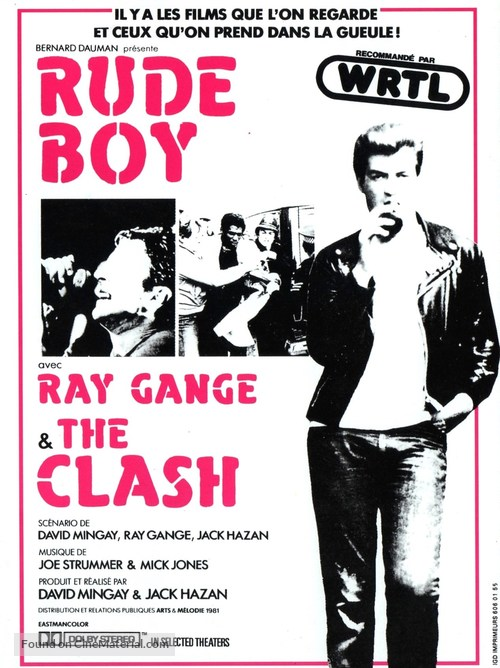 Rude Boy - French Movie Poster
