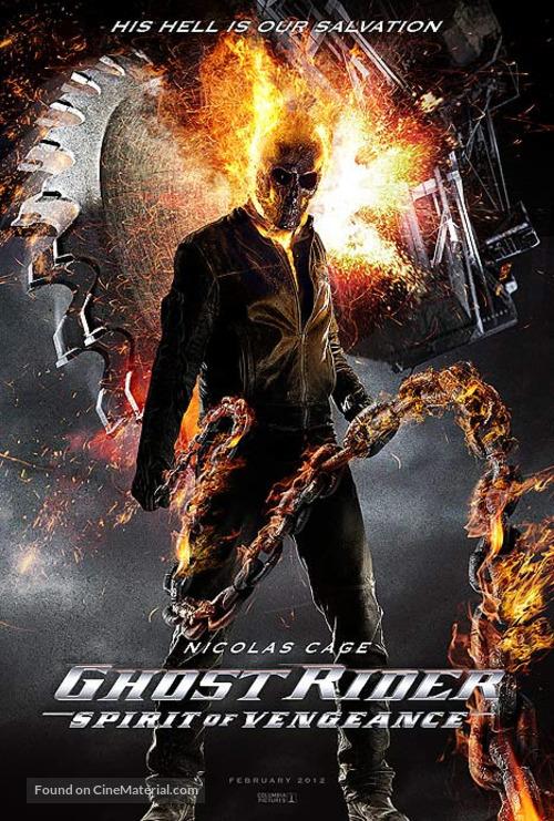 Ghost Rider Spirit Of Vengeance Movie Poster