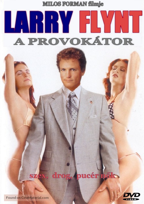 The People Vs Larry Flynt - Hungarian DVD movie cover