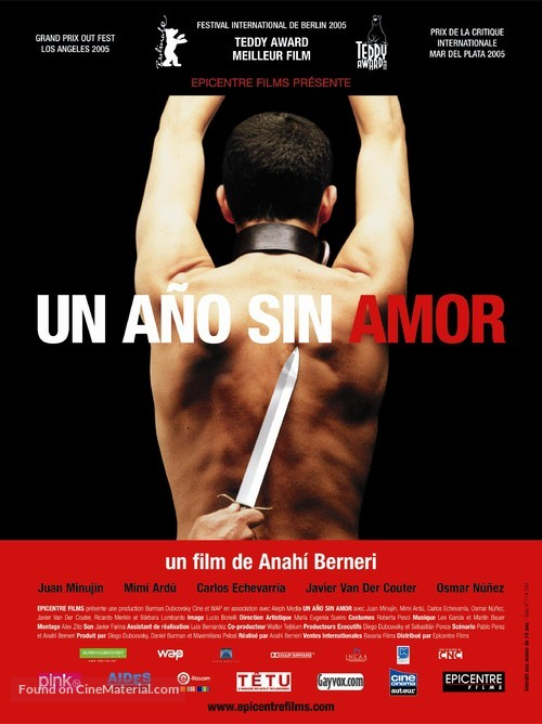 Un año sin amor - French poster