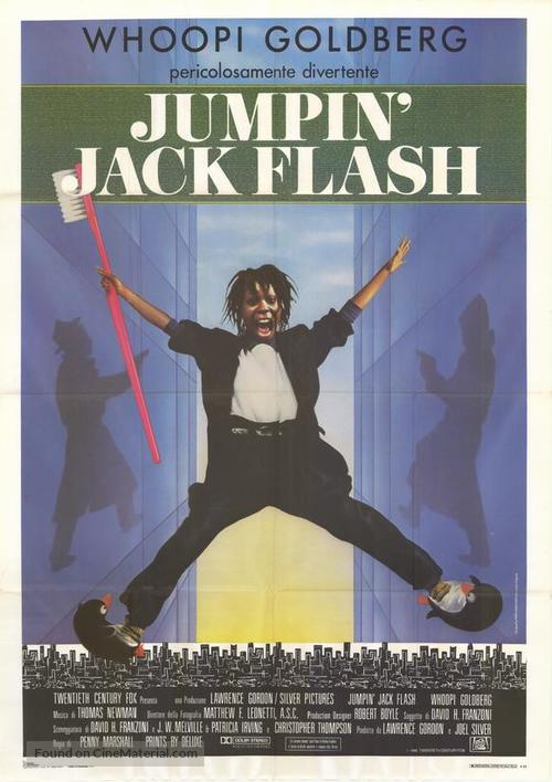 Jumpin' Jack Flash - Italian Movie Poster