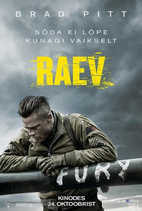 Fury - Estonian Movie Poster