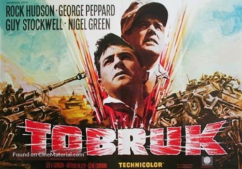 Tobruk - German Movie Poster