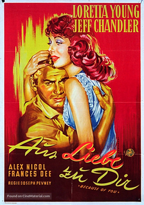 Because of You - German Movie Poster