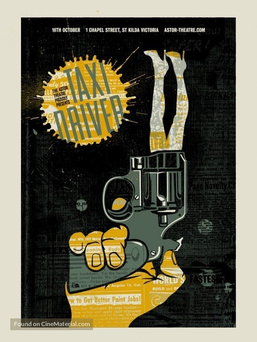 Taxi Driver - Australian Homage poster