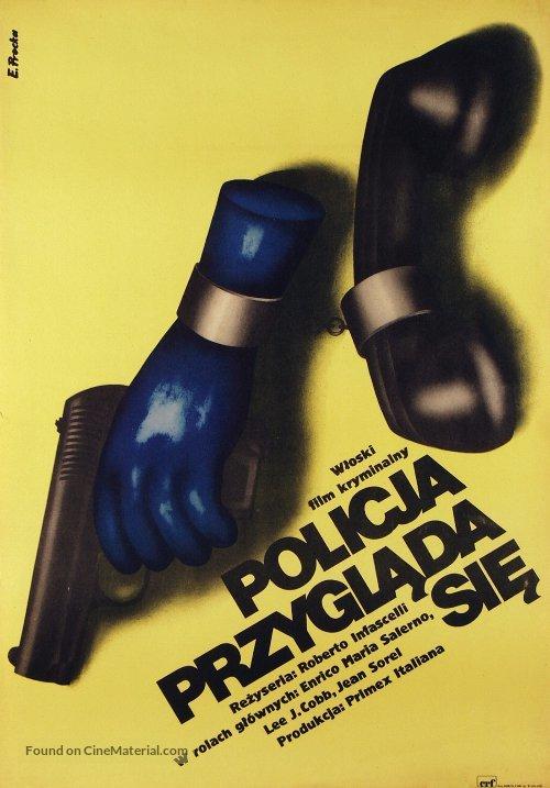La polizia sta a guardare - Polish Movie Poster