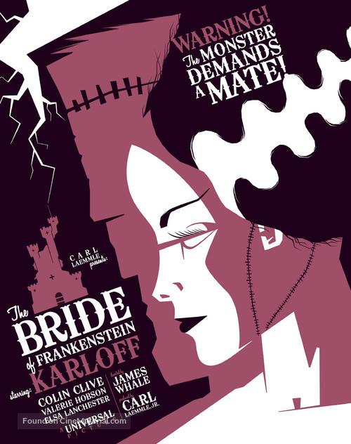Bride of Frankenstein - Homage poster