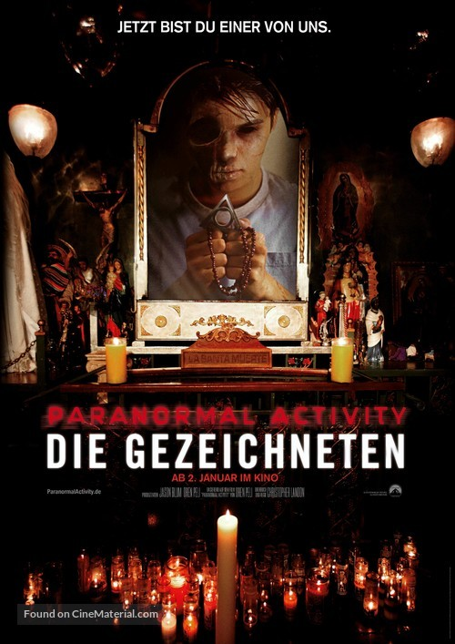 Paranormal Activity: The Marked Ones - German Movie Poster