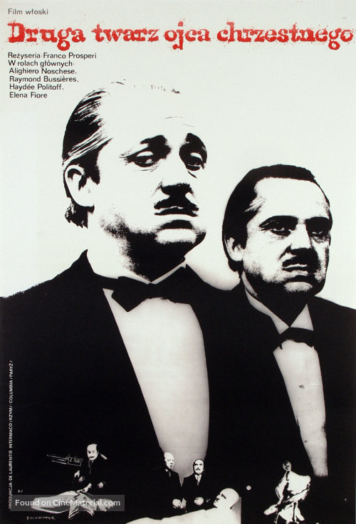 L'altra faccia del padrino - Polish Movie Poster