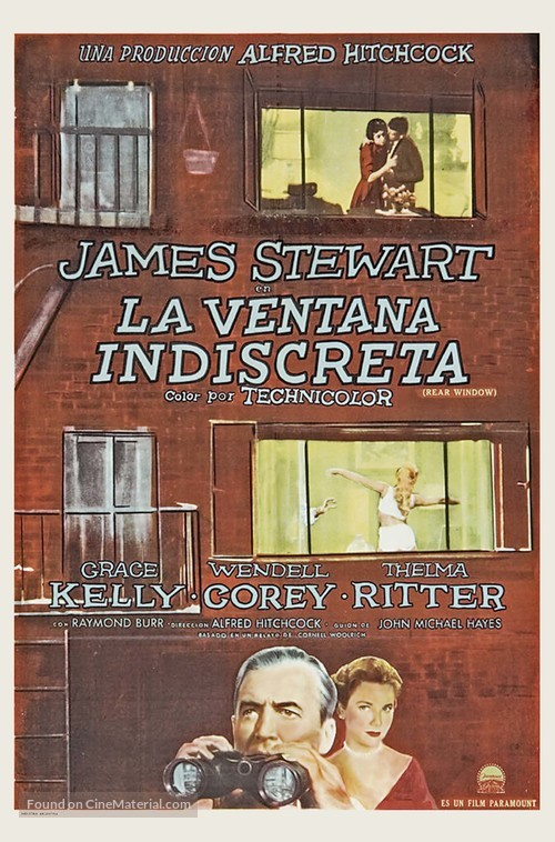 Rear Window - Spanish Movie Poster