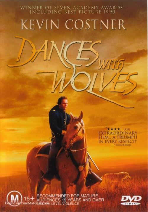 Dances with Wolves - Australian Movie Cover