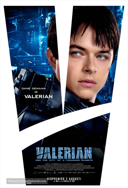 Valerian and the City of a Thousand Planets - Swedish Movie Poster