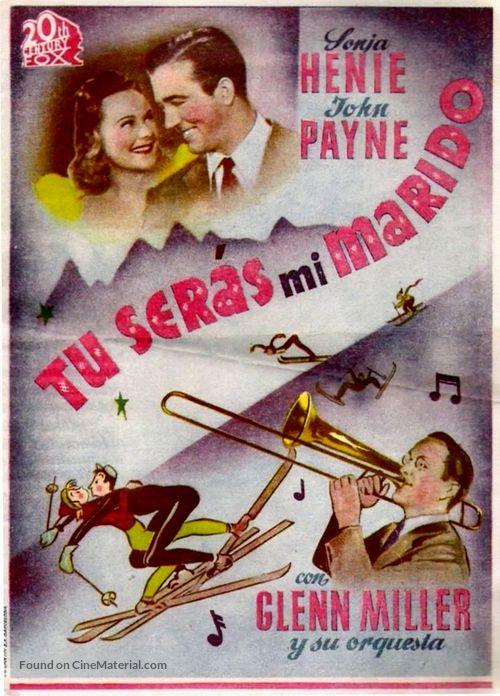 Sun Valley Serenade - Spanish Movie Poster